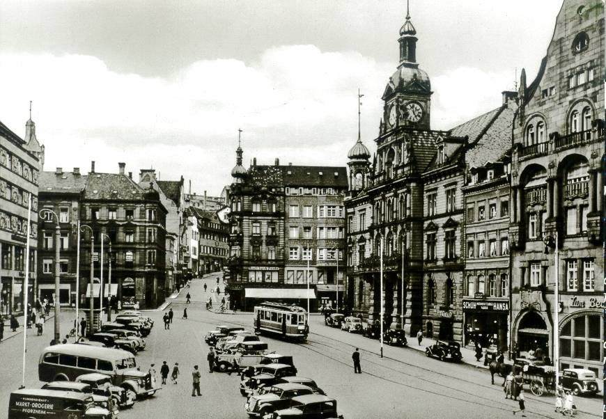 صورة لمدينة بفورتسهايم قبل قصفها من قبل البريطانيين