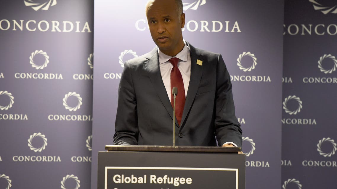 NEW YORK, NY - SEPTEMBER 18: Hon. Ahmed Hussen, Minister of Immigration, Refugees, and Citizenship, Canada, speaks at The 2017 Concordia Annual Summit at Grand Hyatt New York on September 18, 2017 in New York City. Riccardo Savi/Getty Images for Concordia Summit/AFP