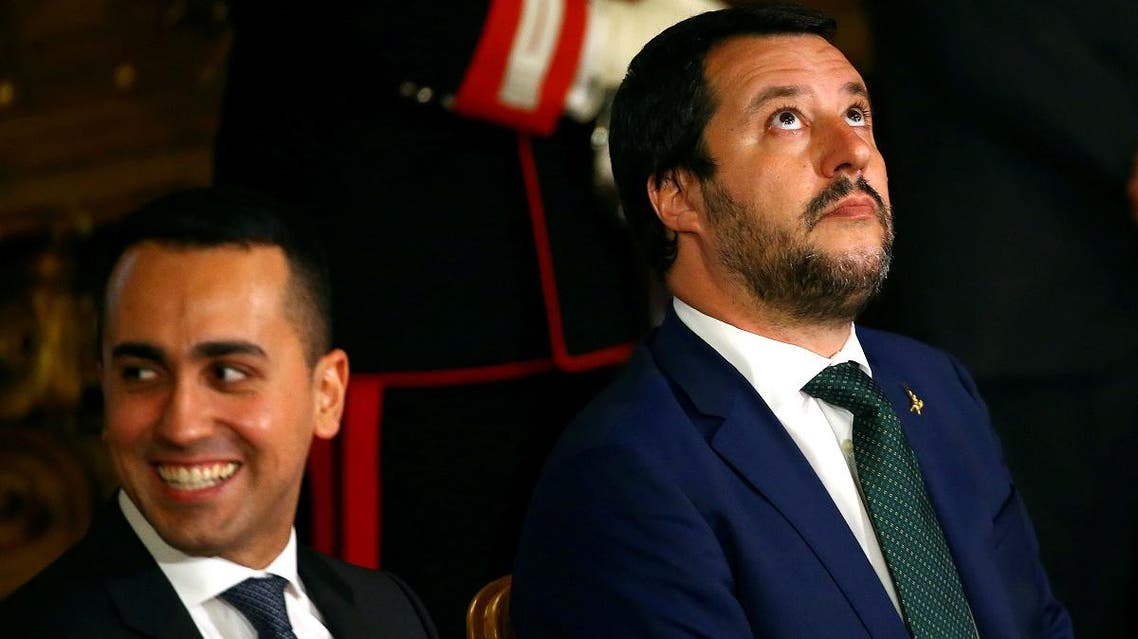 Italy's two deputy prime ministers, Matteo Salvini of the right-wing League and Luigi Di Maio of the populist, anti-establishment 5-Star movement, at the Quirinal palace in Rome, Italy, June 1, 2018. (File photo: Reuters)