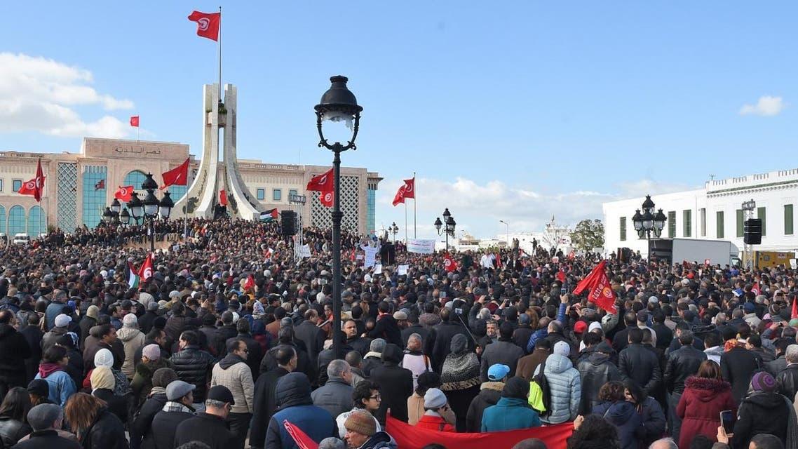 Tunisia Teachers protest (AFP)