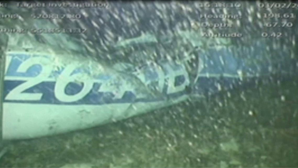 The wreckage of the missing aircraft carrying soccer player Emiliano Sala is seen on the seabed near Guernsey, in this still image taken from video taken February 3, 2019. AAIB/ via REUTERS TV ATTENTION EDITORS - THIS IMAGE HAS BEEN SUPPLIED BY A THIRD PARTY. MANDATORY CREDIT. NO RESALES. NO ARCHIVES. TPX IMAGES OF THE DAY