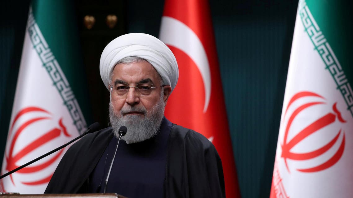 Hassan Rouhani in Ankara on December 20, 2018. (Reuters)