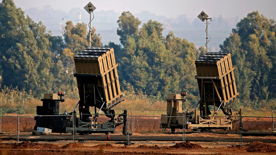 An Iron Dome defense system in the southern Israeli town of Sderot on November 12, 2018. (AFP)