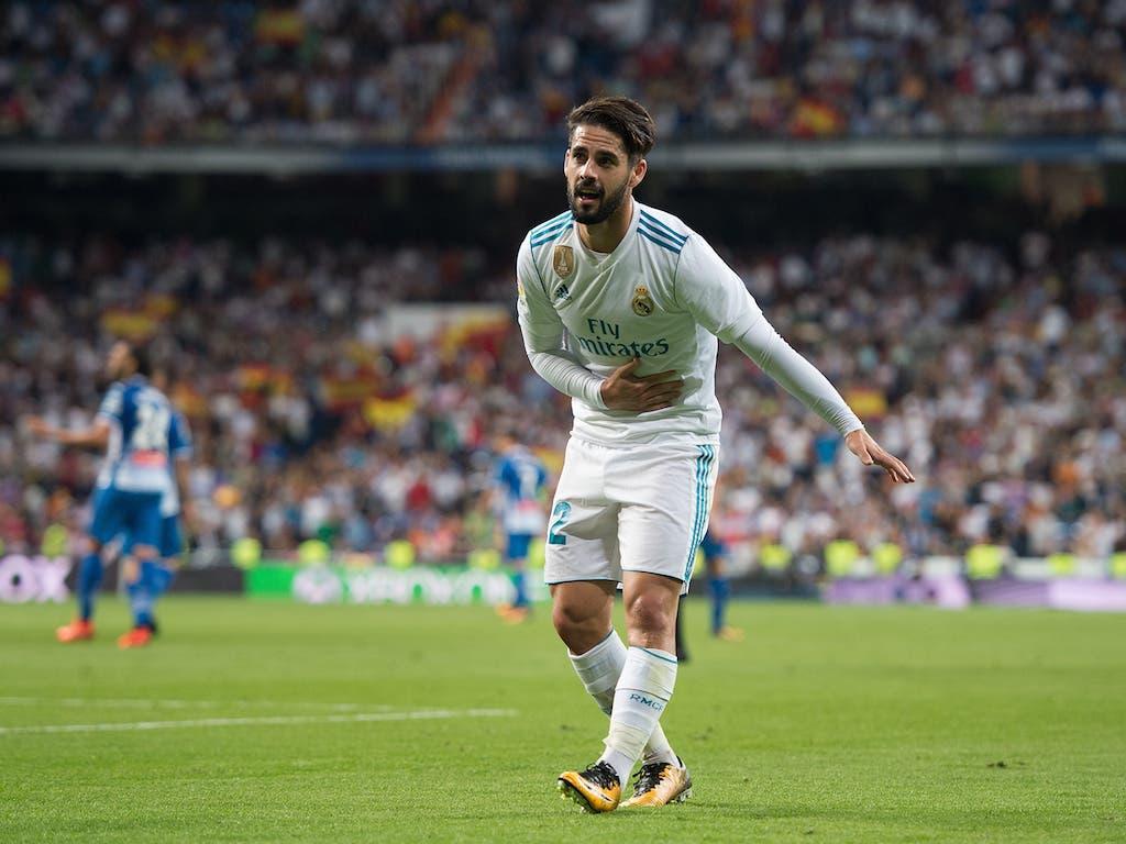 إيسكو في مشاركة سابقة مع ريال مدريد بالموسم الماضي