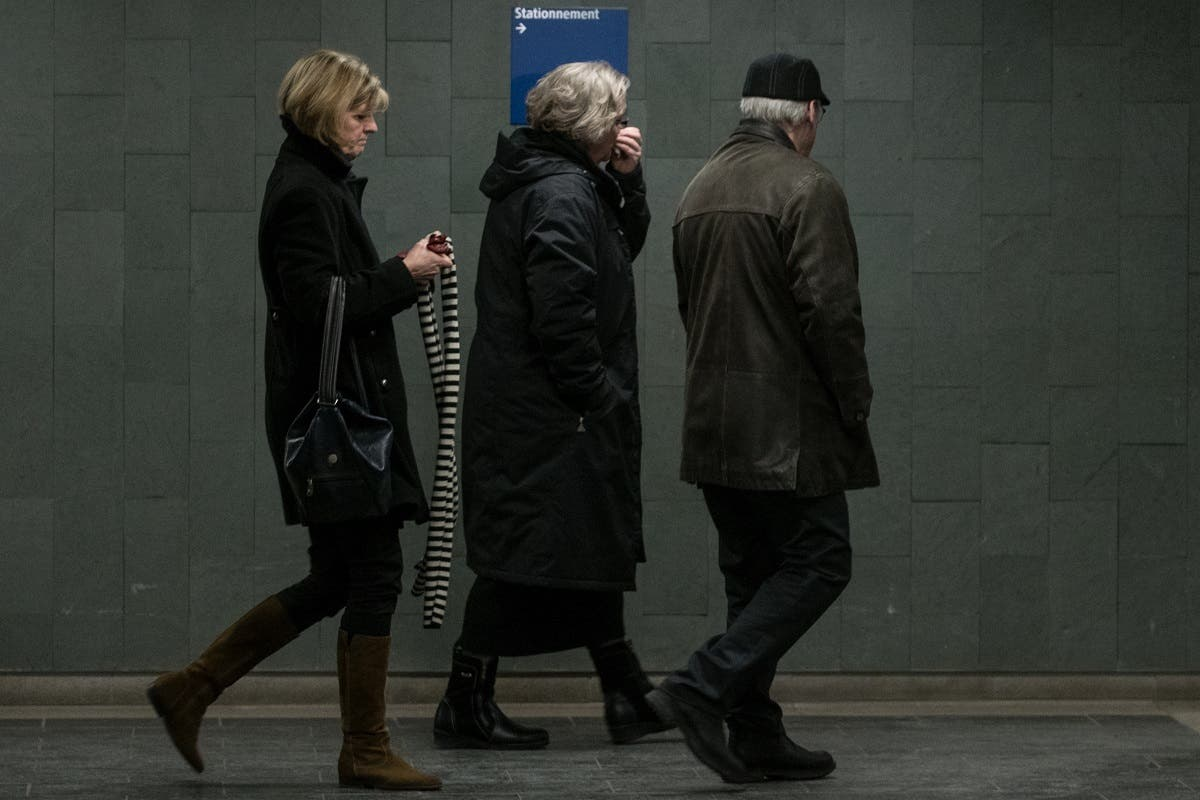 Alexandre Bissonnette's parents. (AFP)