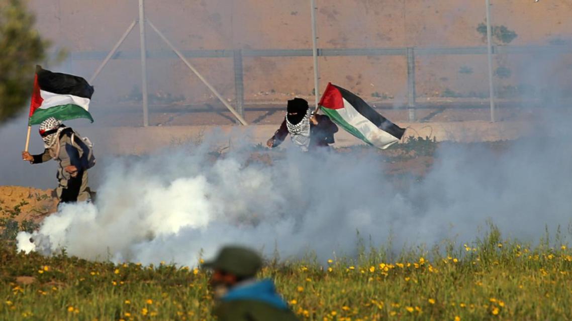 gaza border protests (Reuters)