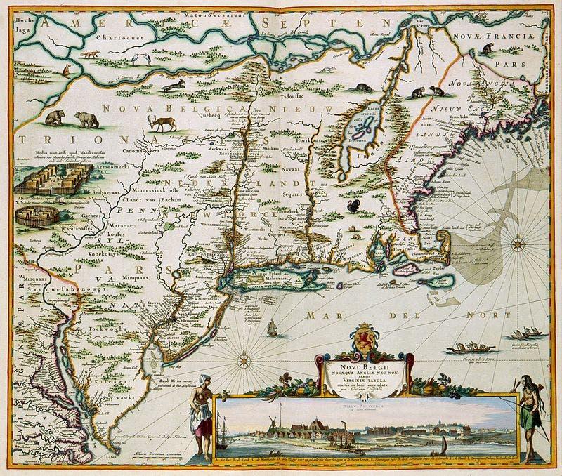صورة لخريطة نيو نذرلاند