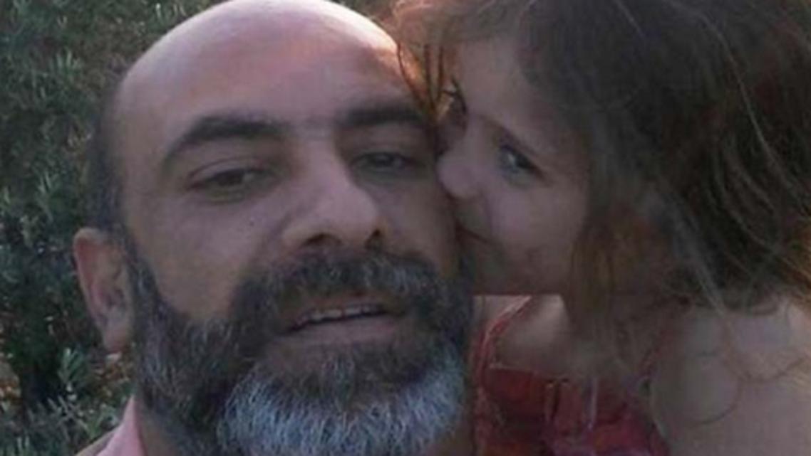 George Zreik sets himself ablaze in front of Lebanese school. (Social media)