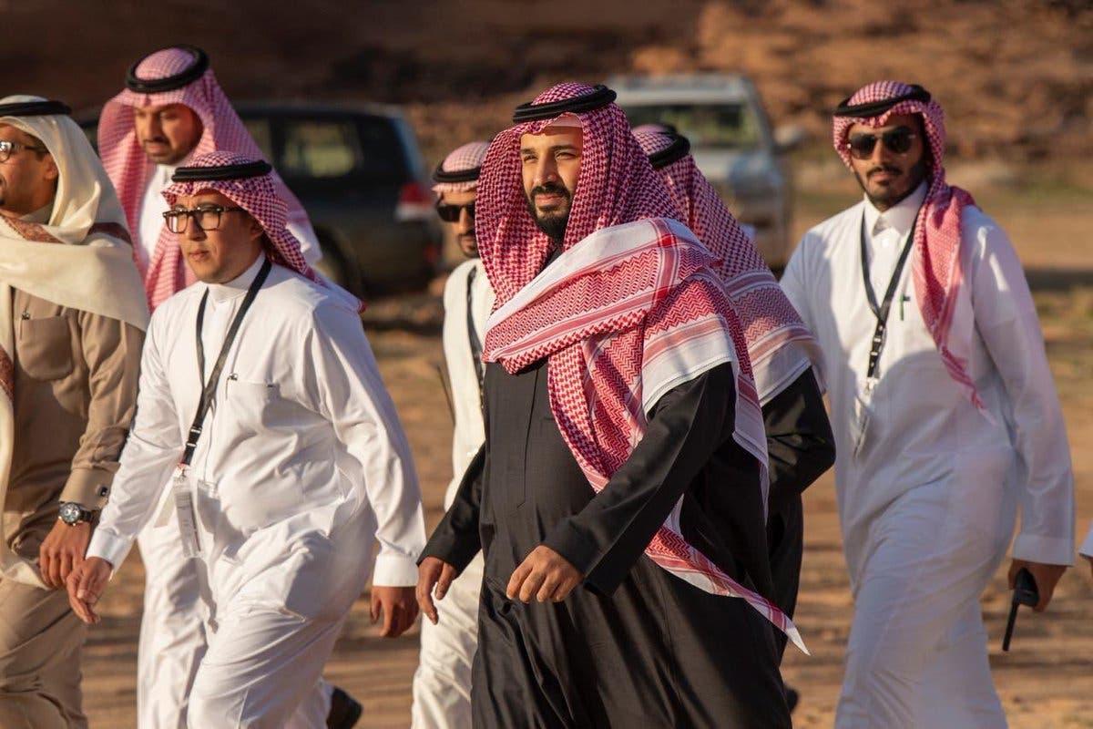 الأمير محمد بن سلمان بمحمية شرعان الطبيعية في محافظة العلا