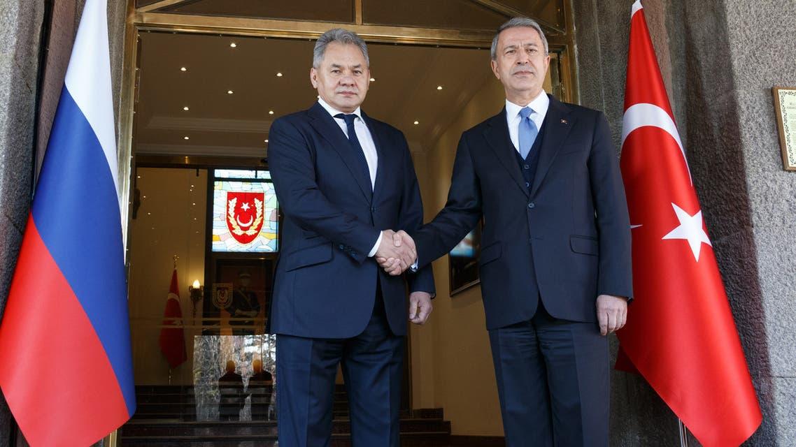 وزير الدفاع التركي وزير الدفاع الروسي