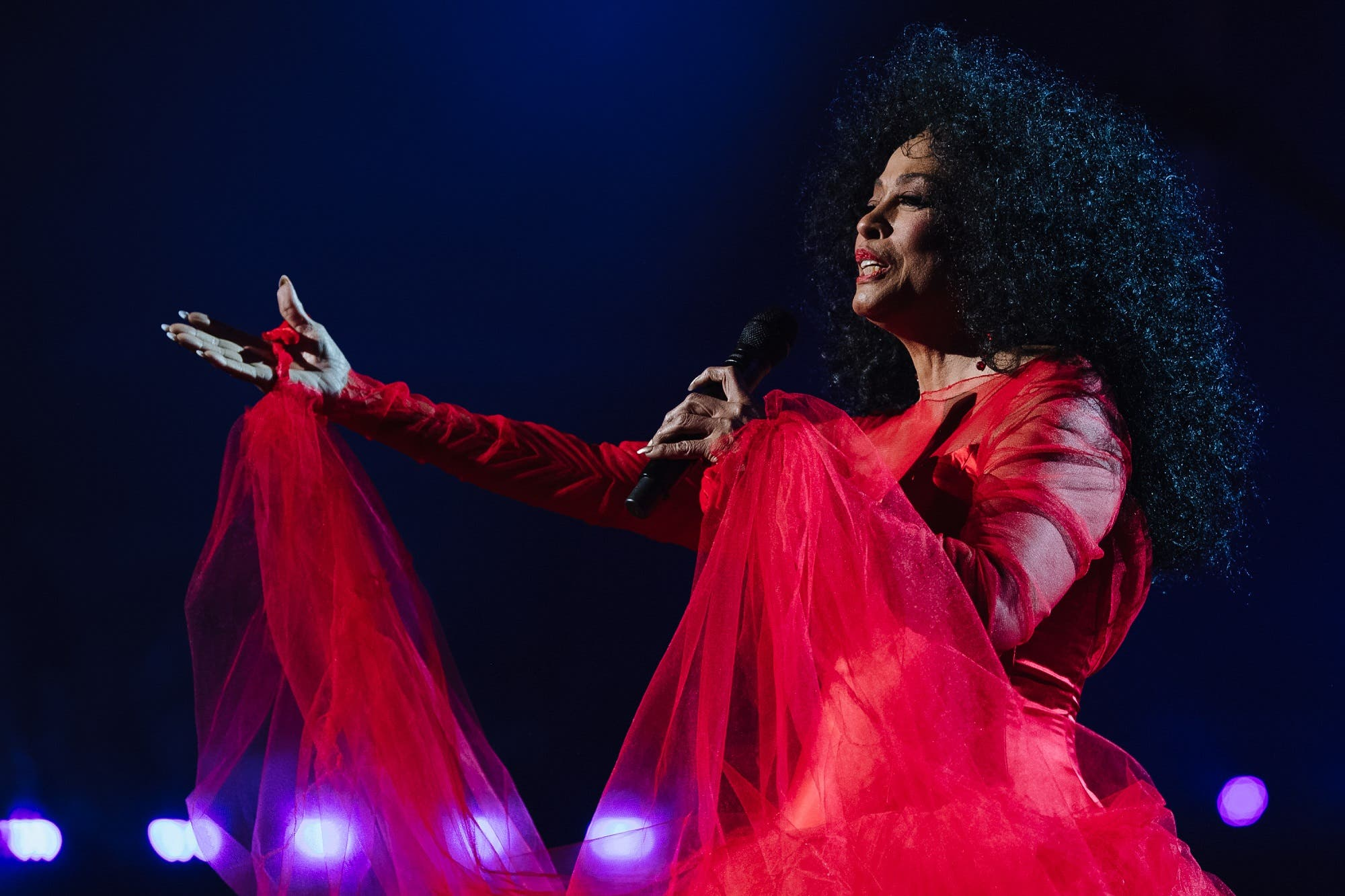 Diana Ross performs onstage at the 61st annual GRAMMY Awards. (AFP)