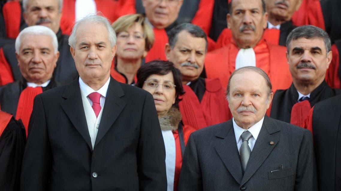 Algerian President Abdelaziz Bouteflika and former Justice Minister Tayeb Belaiz in 2011. (File photo: AFP)