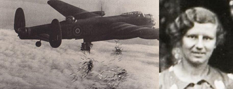 جوان كوران وطائرة بريطانية خلال اعتمادها على تقنية القش