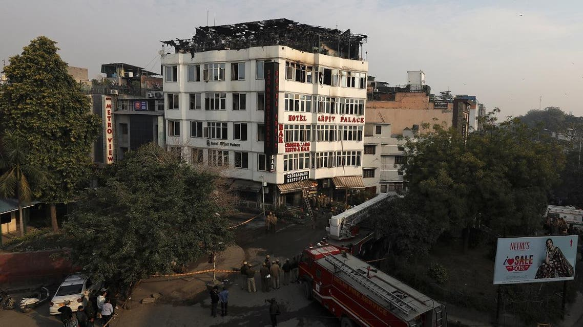 India fire at hotel. (Reuters)