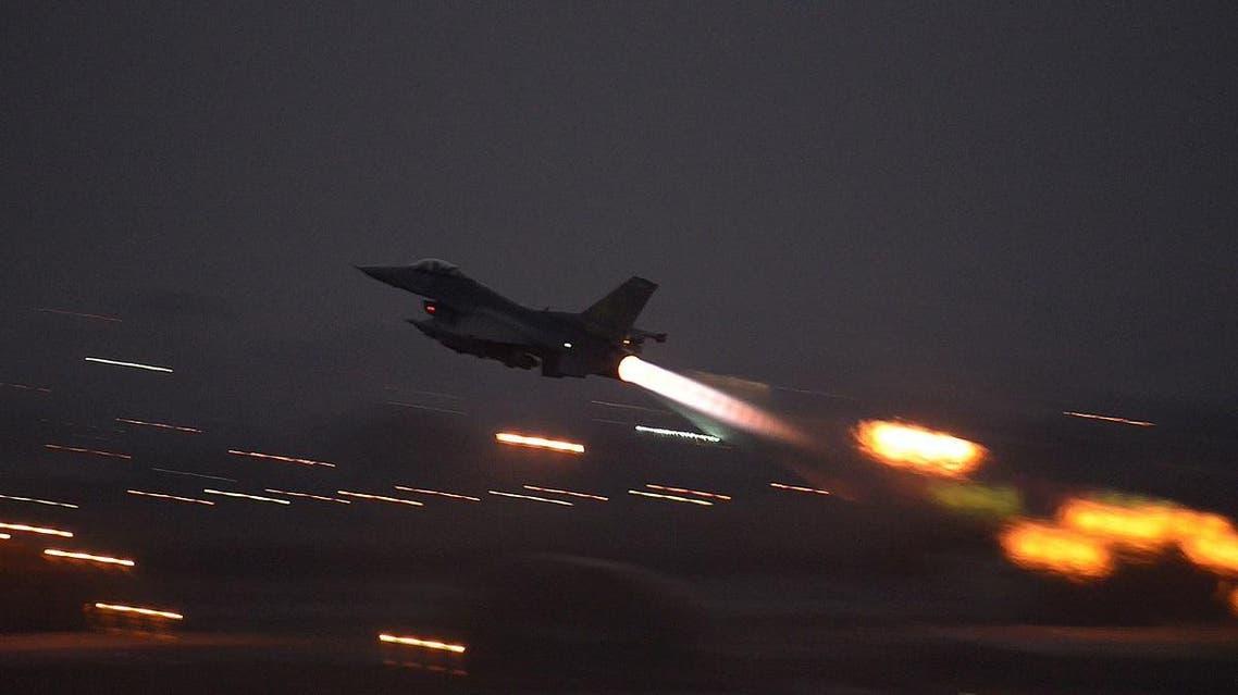 US air force F16 targeting ISIS in Syria (AP)