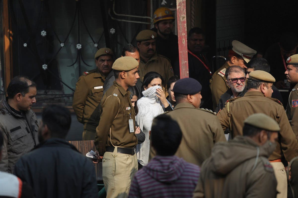 India fire at hotel. (AP)