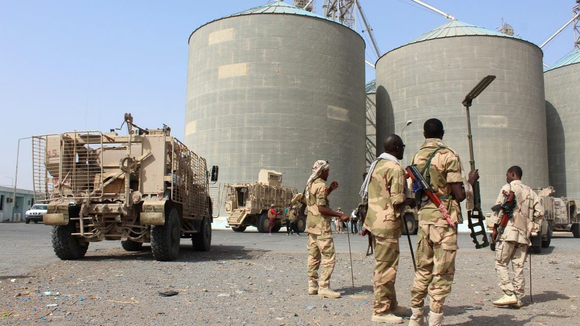 Sudanese troops with a military coalition in Yemen backed by Saudi Arabia and the United Arab Emirates detect mines at a facility of the Red sea mills company in the Yemeni port city of Hodeida on January 22, 2019. The Red Sea mills, one of the last positions in Hodeida seized by Saudi and Emirati-backed Yemeni forces before last month's UN-brokered truce, holds enough wheat to feed nearly four million people for a month in a country on the brink of famine.
