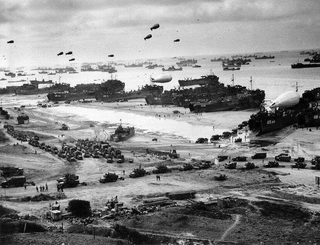 جانب من عملية الإنزال بنورماندي عام 1944