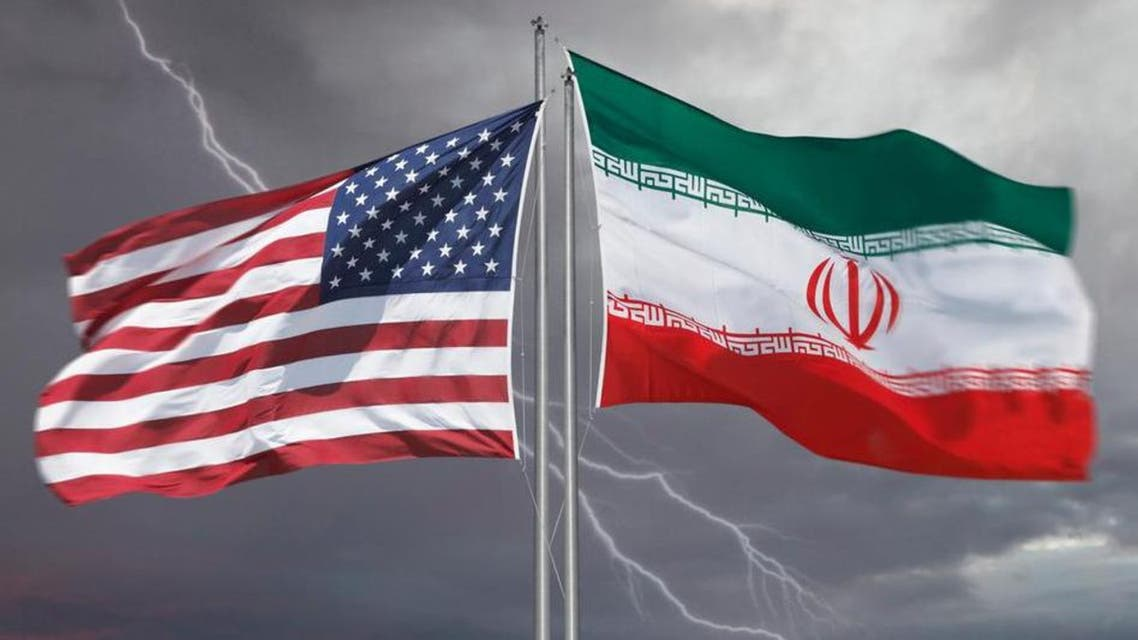 usa and Iran flag