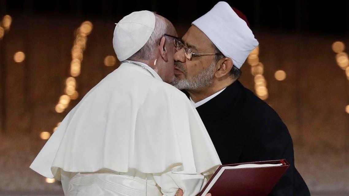 Pope Francis, Grand Imam Ahmed el-Tayeb. (AP)