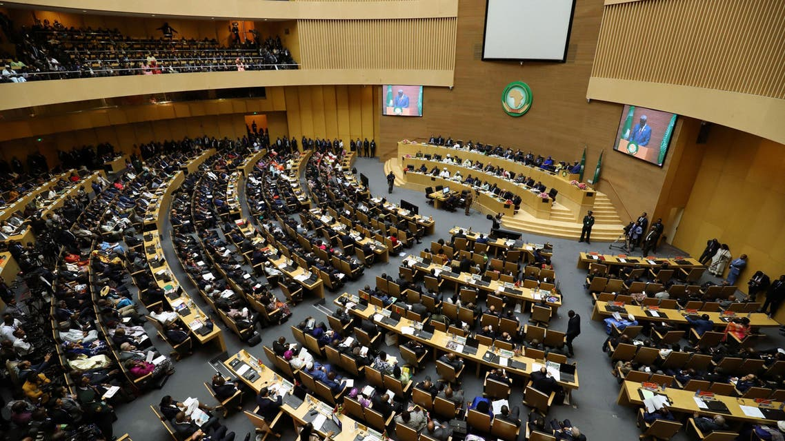The general view shows the 32nd Ordinary Session of the Assembly of the Heads of State and the Government of the African Union (AU) in Addis Ababa, Ethiopia, February 10, 2019. REUTERS/Tiksa Negeri