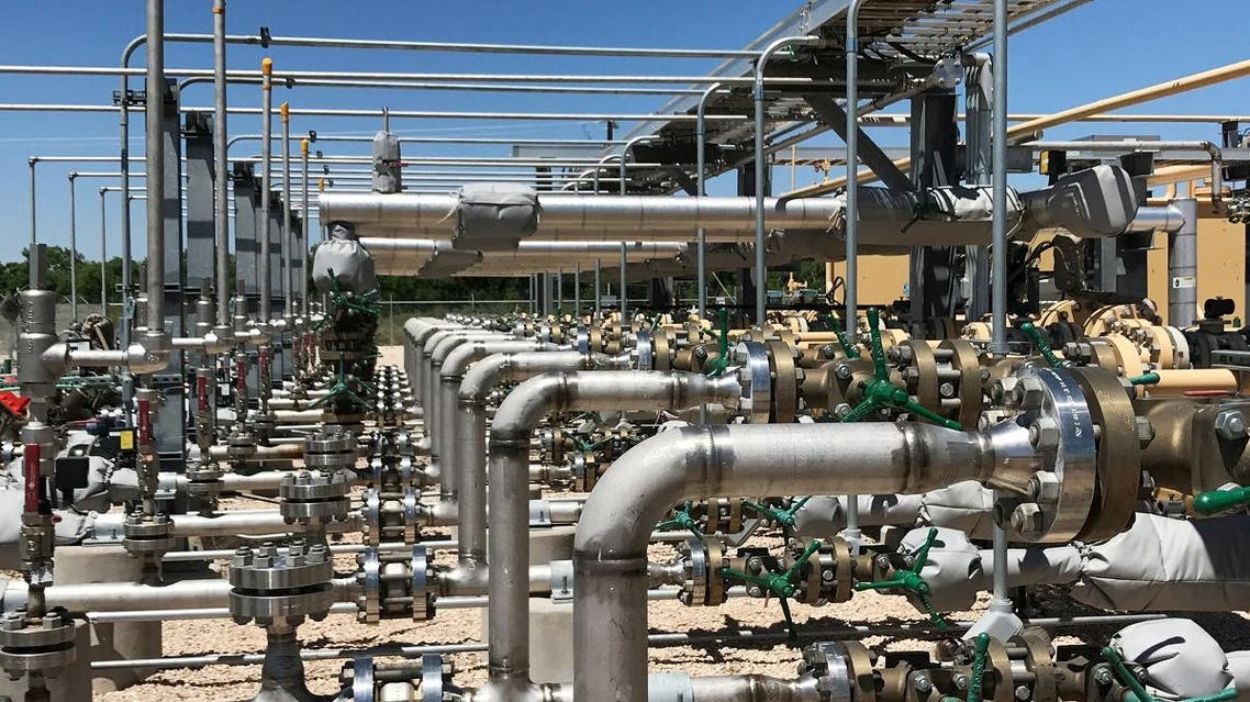 Equipment used to process carbon dioxide, crude oil and water is seen at an Occidental Petroleum Corp enhanced oil recovery project in Hobbs, New Mexico, US. (Reuters)