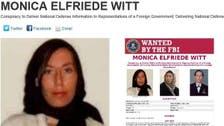 ایران کے لیے جاسوسی میںملوث امریکی خاتون افسراشتہاری قرار