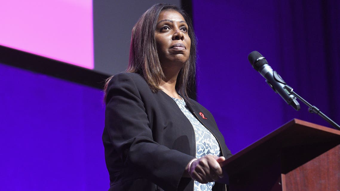 THE BROOKLYN BOROUGH OF NEW YORK CITY, NY - DECEMBER 01: NYC Public Advocate Letitia James speaks on stage at World AIDS Day 2017 at Kings Theatre on December 1, 2017 in the Brooklyn borough of New York City, New York. Gary Gershoff/Getty Images for Housing Works, Inc. /AFP