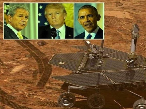 عاصفة شلت عربة عاصرت 3 رؤساء أميركيين وهي تتجول بالمريخ