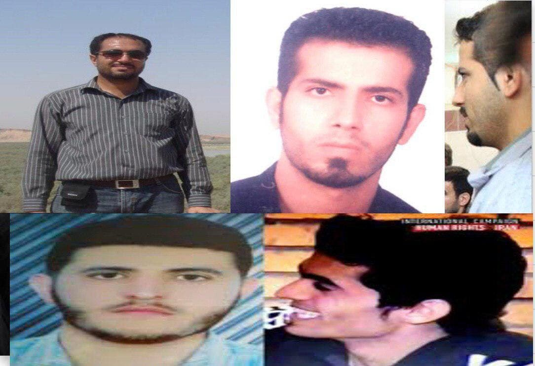 عدد من السجناء السياسيين الأهوازيين المضربين عن الطعام