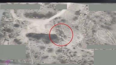 فيديوهات لطائرات التحالف تدمر أهدافا ومخازن أسلحة حوثية