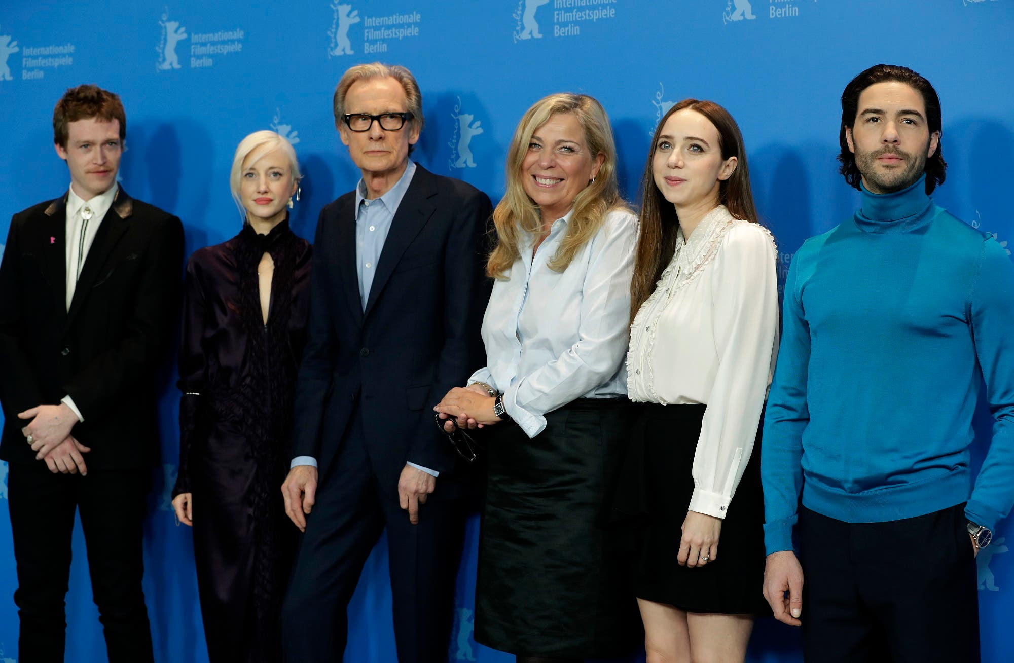 'The Kindness of Strangers' cast at the 2019 Berlinale Film Festival in Berlin. (AP)