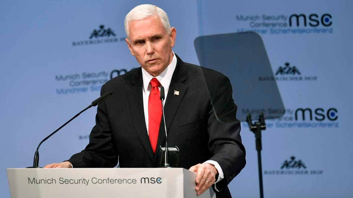 Mike Pence in Munich (AFP)