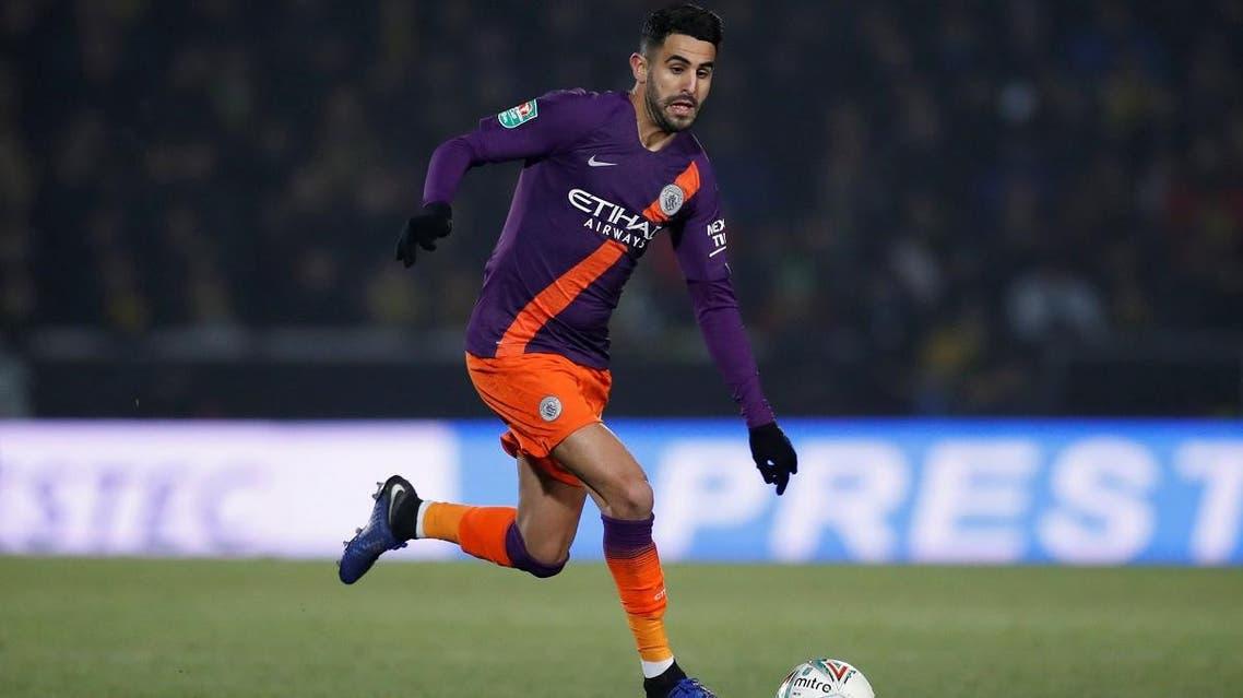 Manchester City's Riyad Mahrez in action. (Reuters