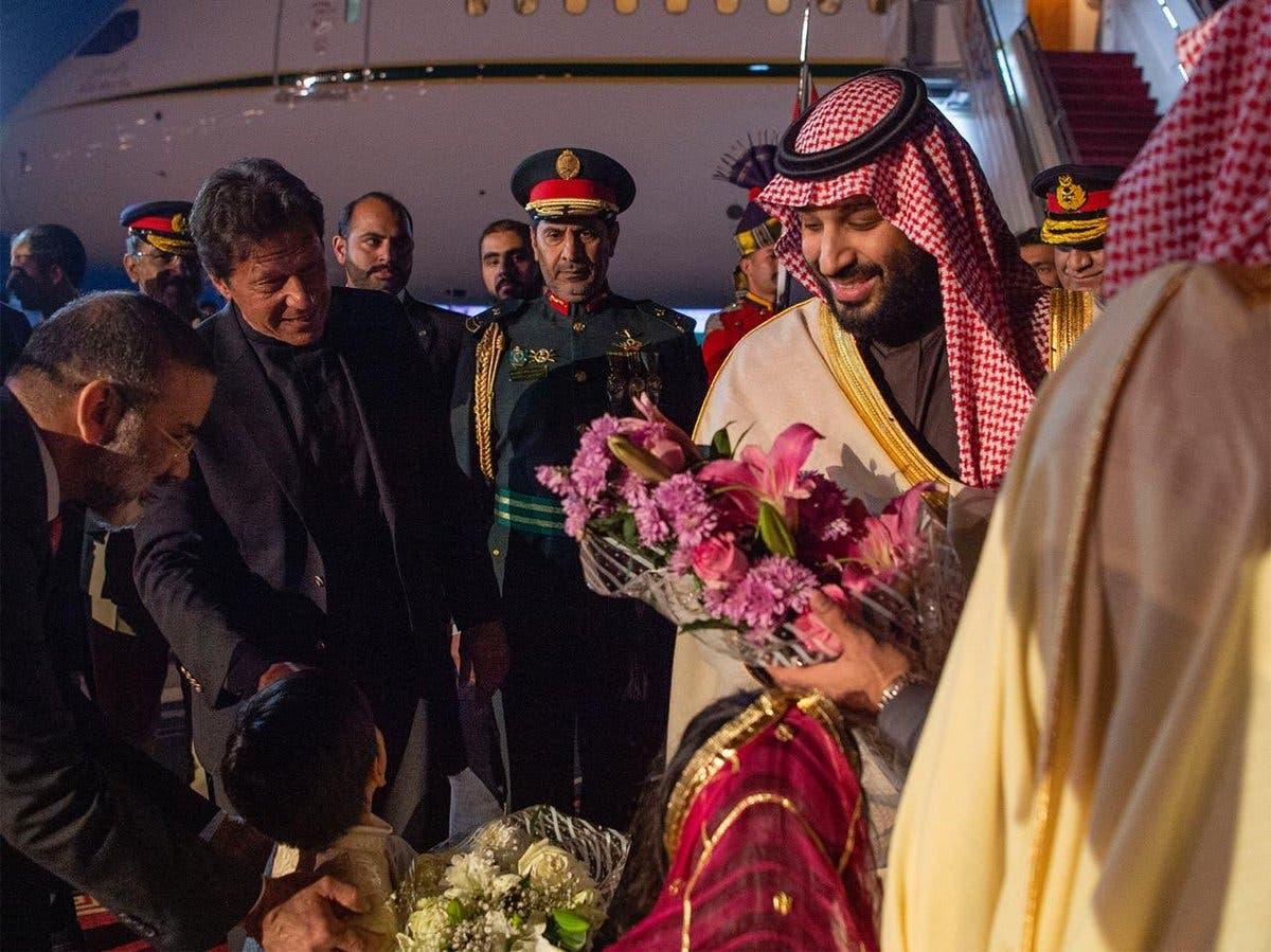 Saudi crown prince arrives in Pakistan on official visit