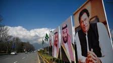 پاکستان میں در ودیوار سعودی ولی عہد کے لئے خیر مقدمی بینروں سے سج گئے