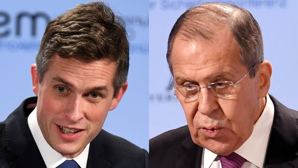 """لافروف يصف وزير الدفاع البريطاني بـ""""وزير الحرب"""""""