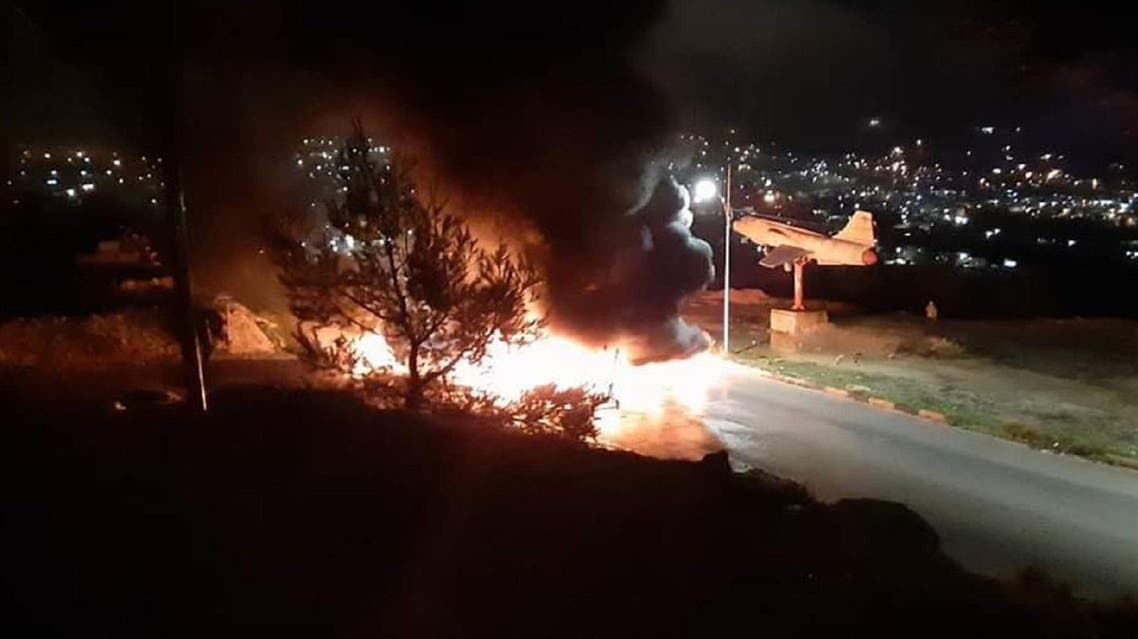Overnight riots in northern Jordan left one person dead and six others, including policemen, wounded. (Twitter)