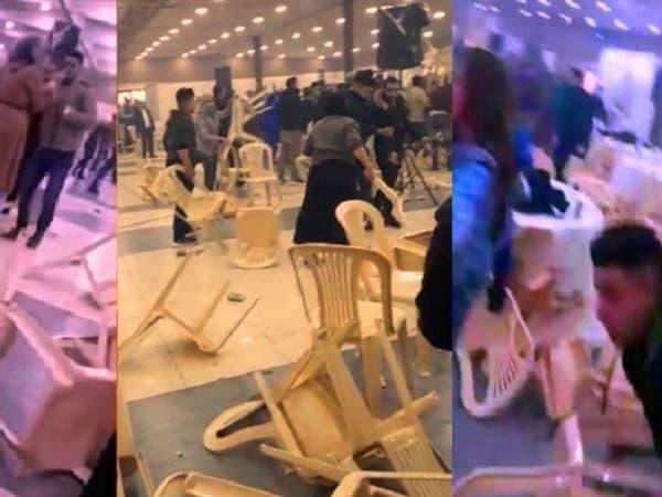 شاهد جنون التكسير الجماعي في حفل خطوبة بالريف اللبناني