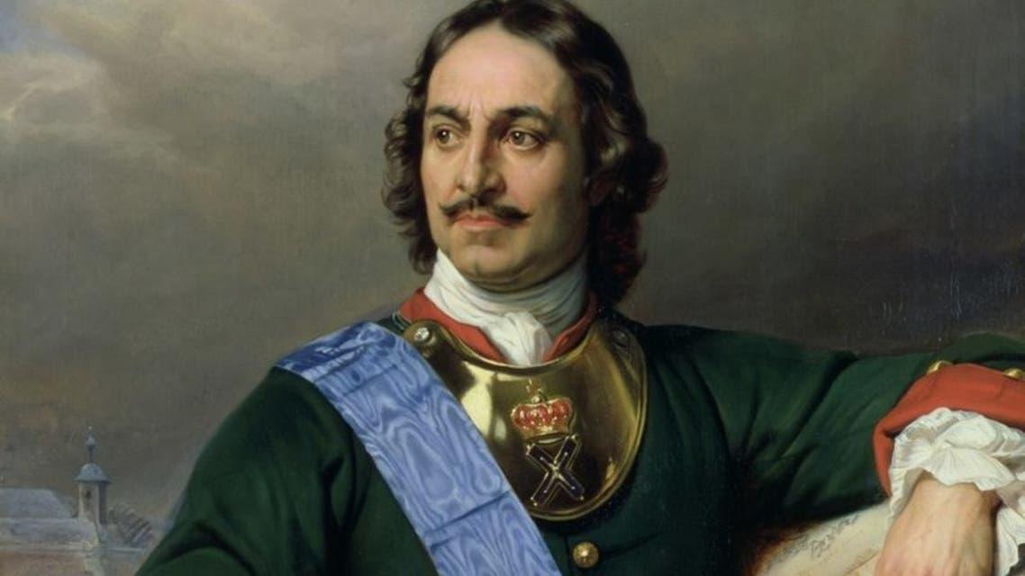 صورة للإمبراطور الروسي بطرس الأكبر