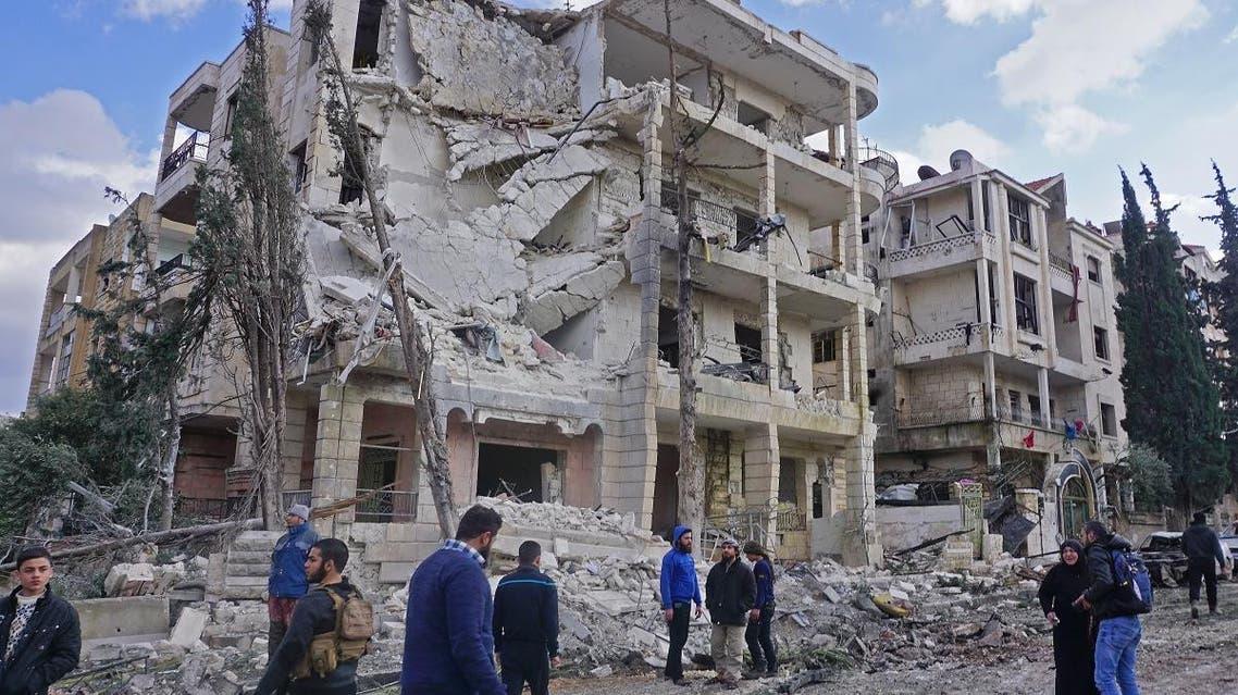 Twin attack Idlib Syria (AFP)