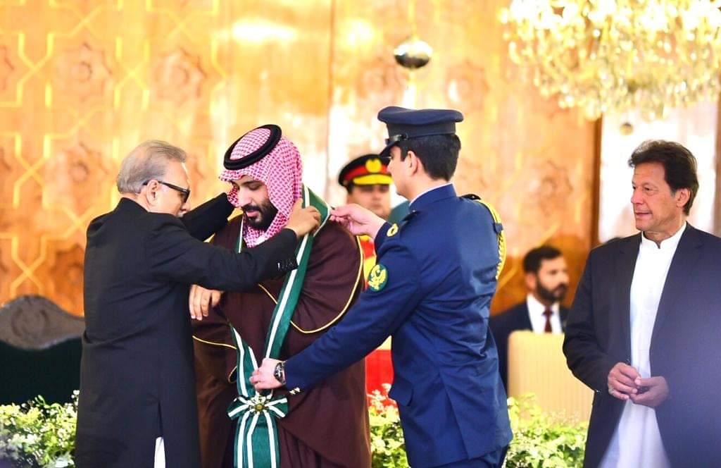 Saudi Crown Prince receives Pakistan's highest civilian honor main