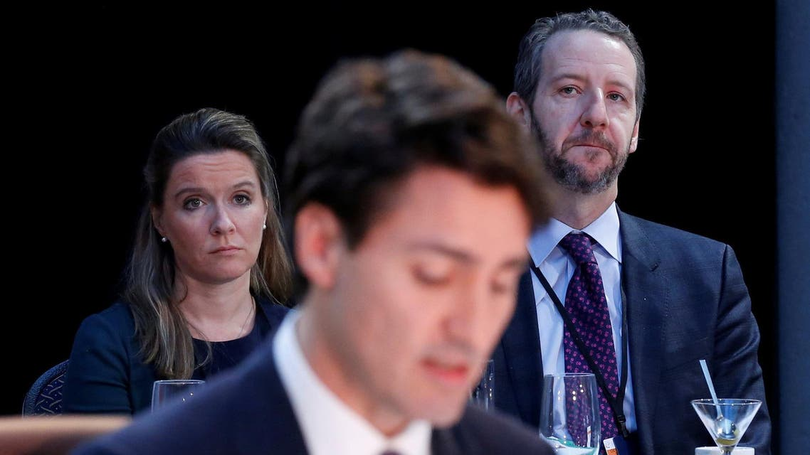 Gerald Butts (R) said he resigned as Canadian prime minister's principle secretary to avoid distractions for the government facing another tough ballot fight in eight months. (File photo: Reuters)