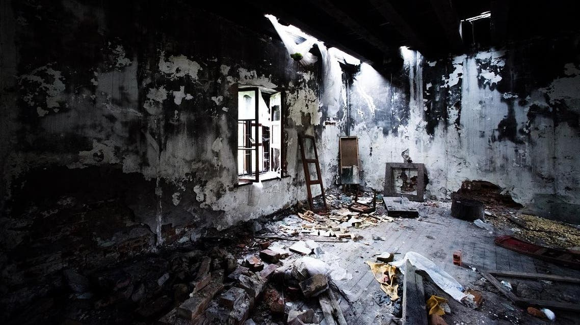 Burned abandoned room with light from the window. Grunge, vintage background. - Image SHUTTERSTOCK
