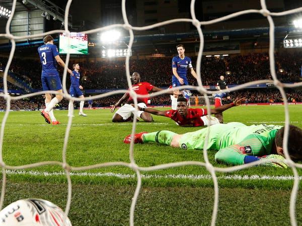 مانشستر يونايتد يقصي تشيلسي من كأس الاتحاد الإنجليزي