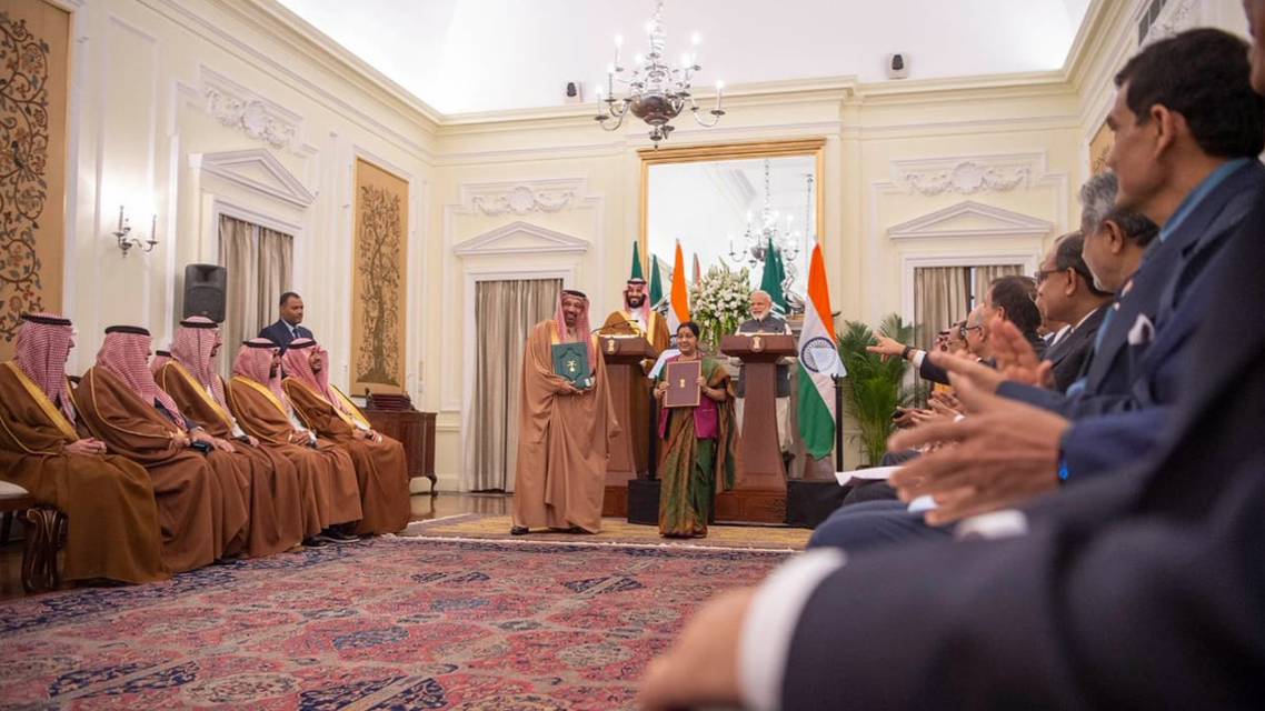 Saudi Arabia and India have signed five Memorandums of Understandings (MoUs) in the fields of housing, tourism, broadcasting, investment, and framework agenda