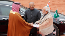 WATCH: India's PM Modi welcomes Saudi Crown Prince at presidential residence