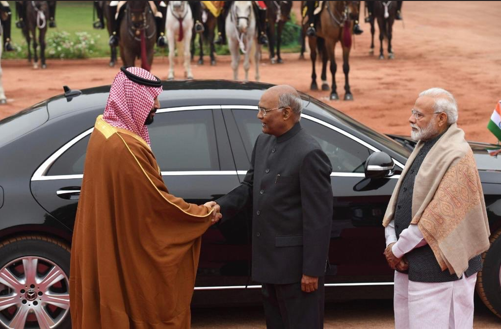 Saudi crown prince in India. (Supplied)