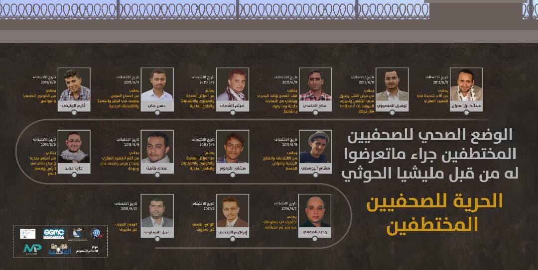 الصحفيين اليمنيين المختطفين (أرشيفية)