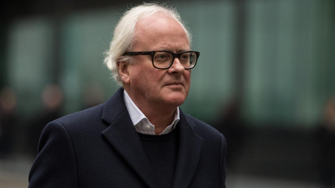 Former Barclays CEO, John Varley, leaves at Southwark Crown Court in London on January 14, 2019. (AFP)